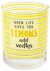 Vodka by Livin' on the Wedge - 10 oz. Glass / Tea Light Holder