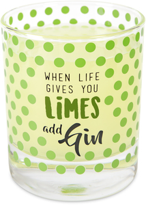Gin by Livin' on the Wedge - 10 oz. Glass / Tea Light Holder