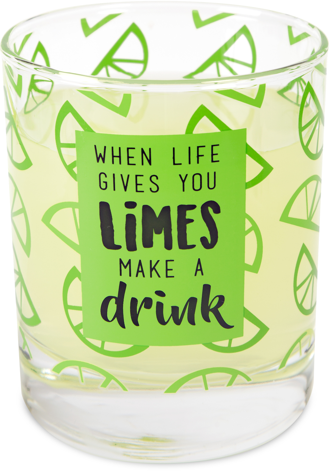 Limes by Livin' on the Wedge - Limes - 10 oz. Glass / Tea Light Holder