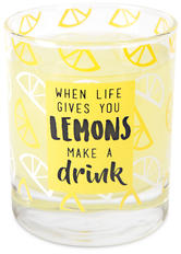 Lemons by Livin' on the Wedge - 10 oz. Glass / Tea Light Holder