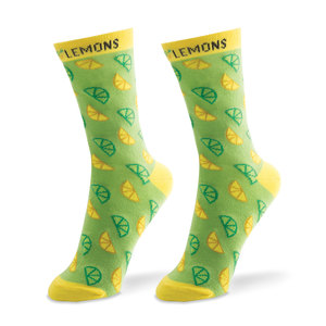 A-Peel-ing-Green by Livin' on the Wedge - Ladies Cotton Blend Sock