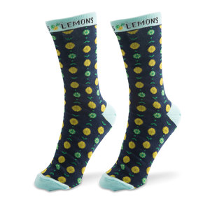 Classic Citrus- Navy by Livin' on the Wedge - Ladies Cotton Blend Sock
