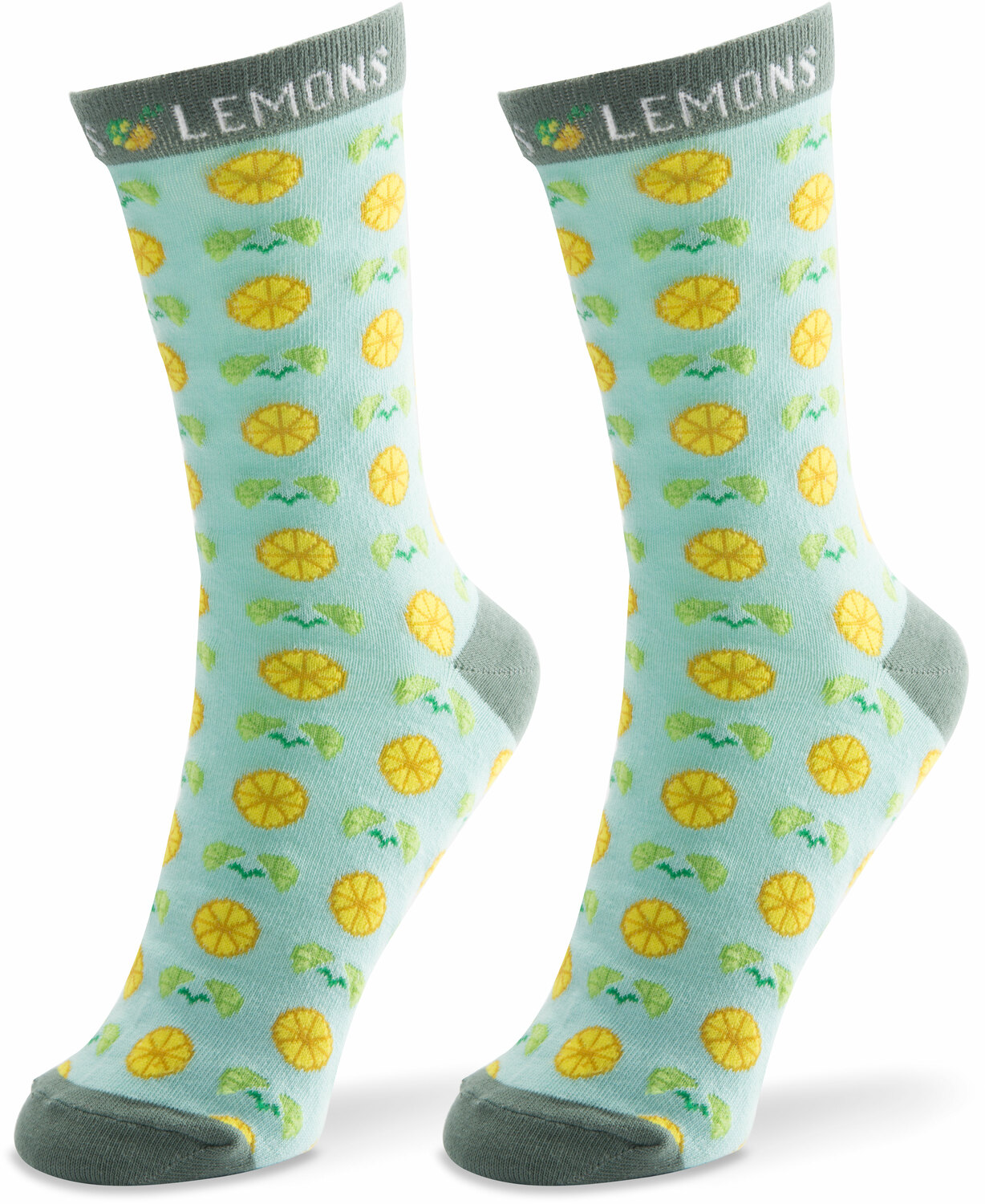 Main Squeeze- Light Blue by Livin' on the Wedge - Main Squeeze- Light Blue - Ladies Cotton Blend Sock