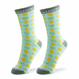Main Squeeze- Light Blue by Livin' on the Wedge - Ladies Cotton Blend Sock