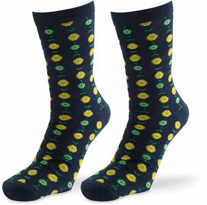 Classic Citrus- Navy by Livin' on the Wedge - Mens Cotton Blend Sock