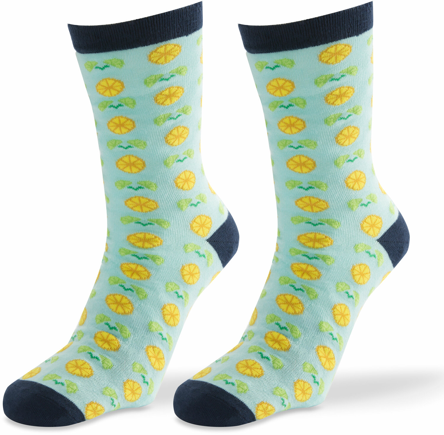 Main Squeeze- Light Blue by Livin' on the Wedge - Main Squeeze- Light Blue - Mens Cotton Blend Sock