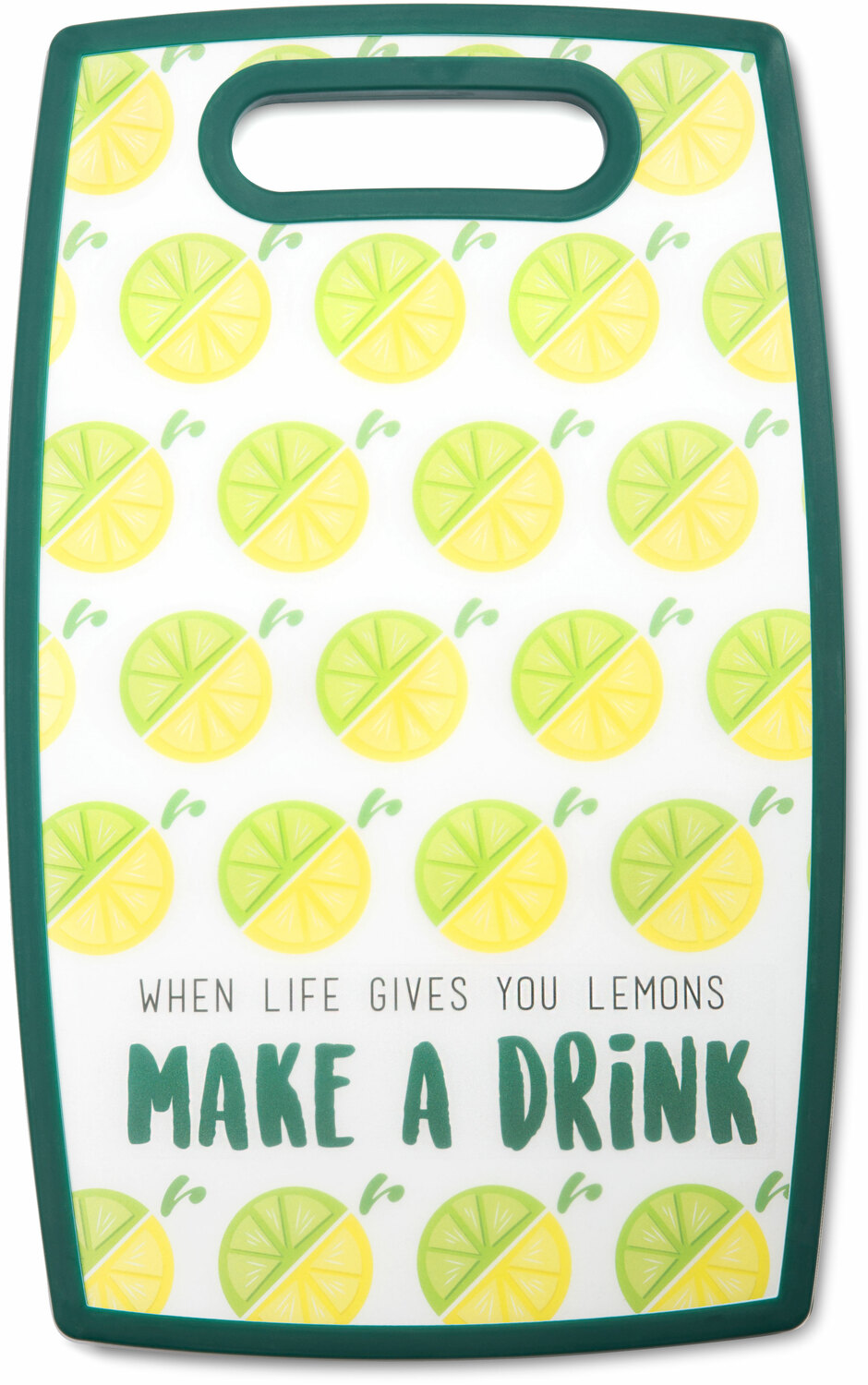"Make a Drink by Livin' on the Wedge - Make a Drink - 9"" x 14.5"" Cutting Board"
