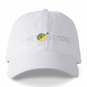 Limes or Lemons by Livin' on the Wedge - White Adjustable Hat