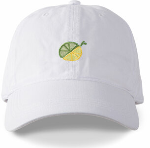Limes or Lemons Icon by Livin' on the Wedge - White Adjustable Hat