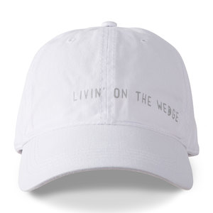 Livin' on the Wedge by Livin' on the Wedge - White Adjustable Hat