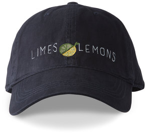 Limes or Lemons by Livin' on the Wedge - Navy Blue Adjustable Hat