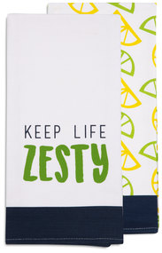 "Zesty by Livin' on the Wedge - Tea Towel Gift Set (2 - 19.75"" x 27.5"")"