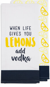 "Add Vodka by Livin' on the Wedge - Tea Towel Gift Set (2 - 19.75"" x 27.5"")"