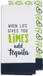 "Add Tequila by Livin' on the Wedge - Tea Towel Gift Set (2 - 19.75"" x 27.5"")"