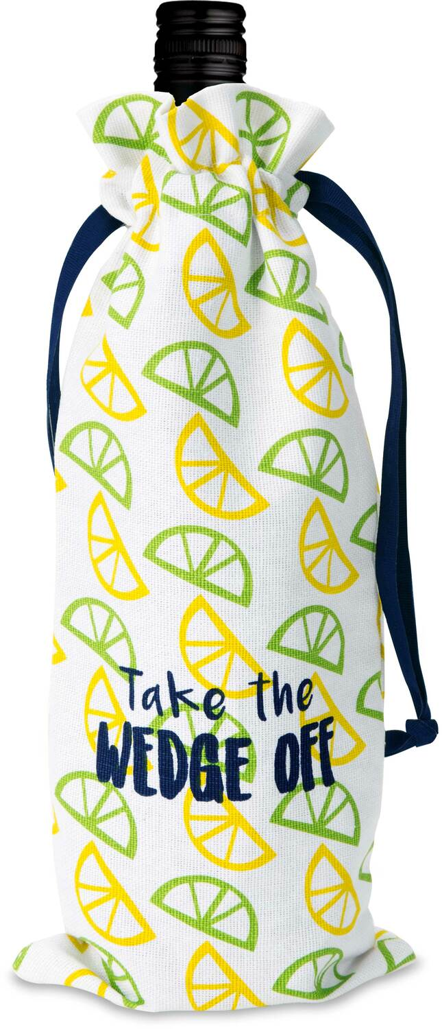 "Wedge Off by Livin' on the Wedge - Wedge Off - 6"" x 14"" 100% Cotton Gift Bag"