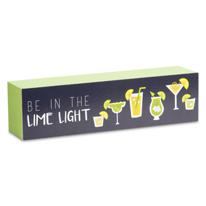 "Lime Light by Livin' on the Wedge - 6"" x 1.5"" Plaque"