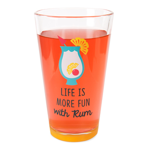 More Fun with Rum by Livin' on the Wedge - 16 oz Pint Glass Tumbler