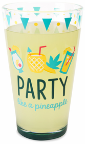 Party by Livin' on the Wedge - 16 oz Pint Glass Tumbler