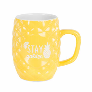 Golden by Livin' on the Wedge - 18 oz Pineapple Mug
