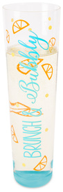 Brunch & Bubbly by Livin' on the Wedge - 8 oz Stemless Champagne Flute