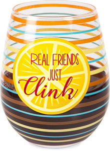 Clink by Livin' on the Wedge - 17 oz Crystal Stemless Wine Glass