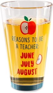 Teacher by Livin' on the Wedge - 16 oz Pint Glass Tumbler