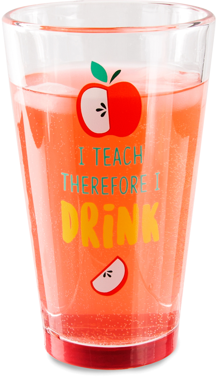 I Teach by Livin' on the Wedge - I Teach - 16 oz Pint Glass Tumbler