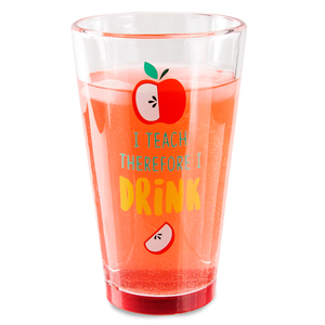 I Teach by Livin' on the Wedge - 16 oz Pint Glass Tumbler
