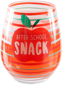 Snack by Livin' on the Wedge - 17 oz Crystal Stemless Wine Glass