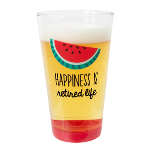 Happiness by Livin' on the Wedge - 16 oz Pint Glass Tumbler