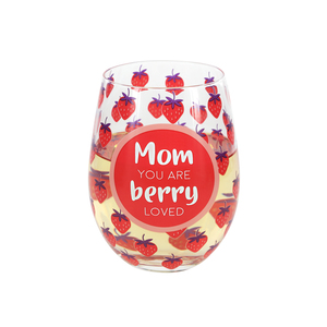 Mom by Livin' on the Wedge - 18 oz Stemless Wine Glass