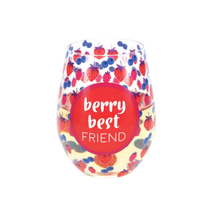 Best Friend by Livin' on the Wedge - 18 oz Stemless Wine Glass