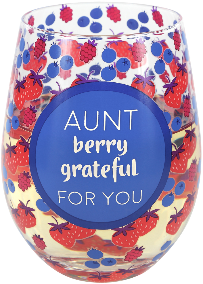 Aunt by Livin' on the Wedge - Aunt - 18 oz Stemless Wine Glass