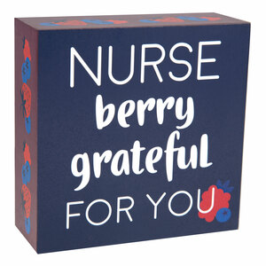 "Nurse by Livin' on the Wedge - 4""x 4"" MDF Plaque"