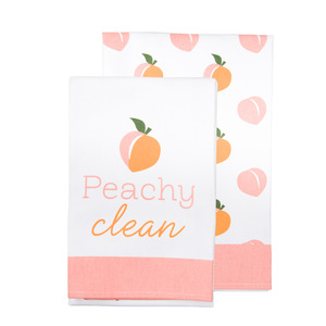"Peachy Clean by Livin' on the Wedge - Tea Towel Gift Set (2 - 19.75"" x 27.5"")"