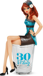 "30 and Flirty by Hiccup - 5.25"" Girl in Shot Glass"
