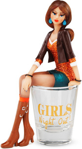 "Girls Night Out by Hiccup - 5.25"" Girl in Shot Glass"
