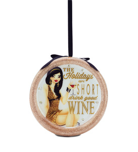 Drink Good Wine by Hiccup - 120mm Blinking Ornament