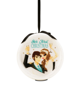 Our First Christmas by Hiccup - 120mm Blinking Ornament