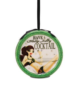 Holly Jolly Cocktail by Hiccup - 120mm Blinking Ornament