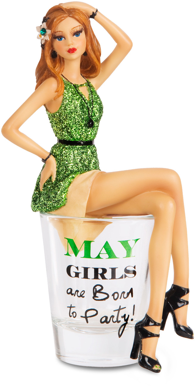 "May by Hiccup - May - 5.75"" Girl in Shot Glass"