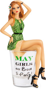 "May by Hiccup - 5.75"" Girl in Shot Glass"