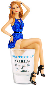 "September by Hiccup - 5.75"" Girl in Shot Glass"