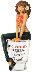 "October by Hiccup - 5.75"" Girl in Shot Glass"