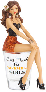 "November by Hiccup - 5.75"" Girl in Shot Glass"