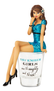 "December by Hiccup - 5.75"" Girl in Shot Glass"