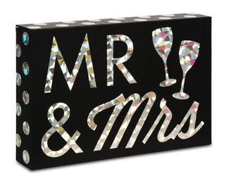 "Mr. & Mrs by Hiccup - 6"" x4"" Plaque"
