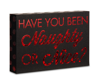 "Naughty or Nice? by Hiccup - 6"" x 4"" Plaque"