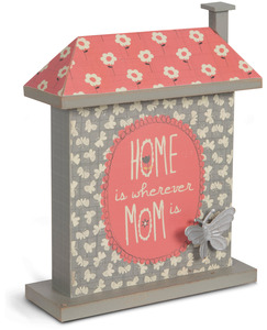 "Mom by Bloom by Amylee Weeks - 7"" Butterfly & Flower House Plaque"