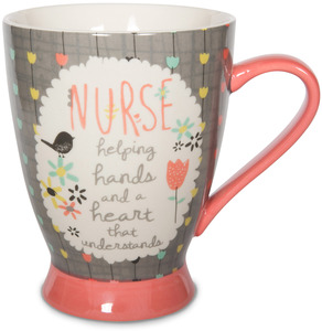 Nurse by Bloom by Amylee Weeks - 18 oz Bird & Flowers Mug